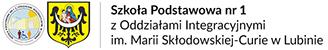 Szkoła Podstawowa nr 1 z oddziałami integracyjnymi im. Marii Skłodowskiej-Curie w Lubinie Logo