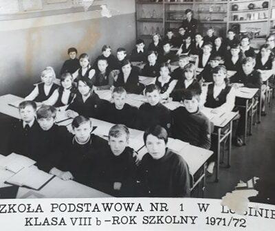 Klasa 8b rok szkolny 1971-72