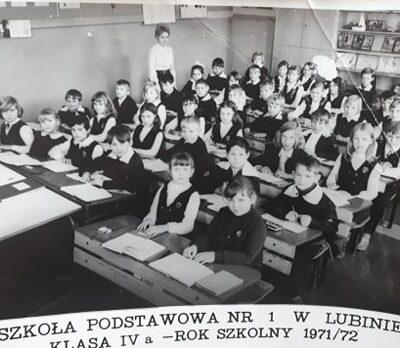Klasa 4a rok szkolny 1971-72