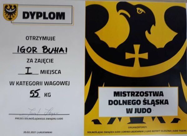 Dyplom dla Igora Buhai