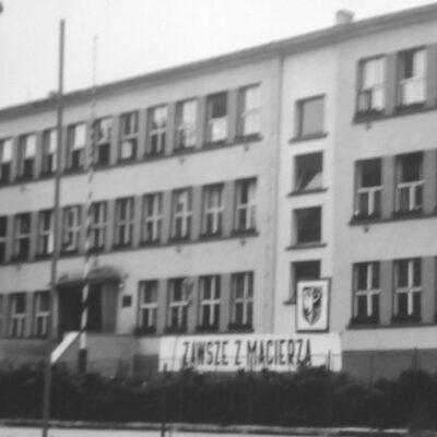 Budynek szkoły, rok 1964